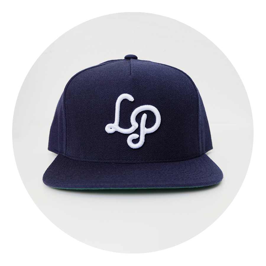 Laughing Planet navy blue baseball hat
